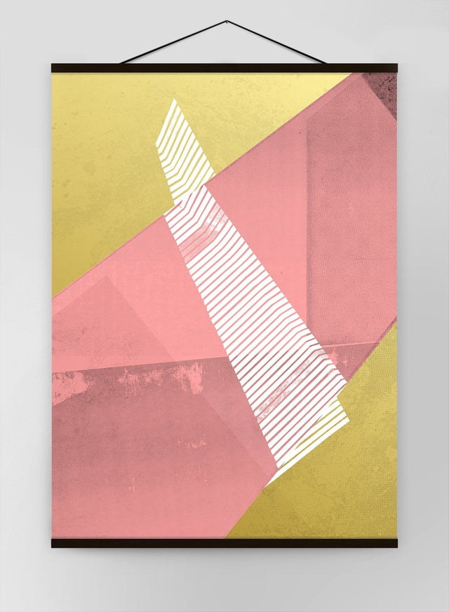 Abstract Angles 2 Pink Canvas