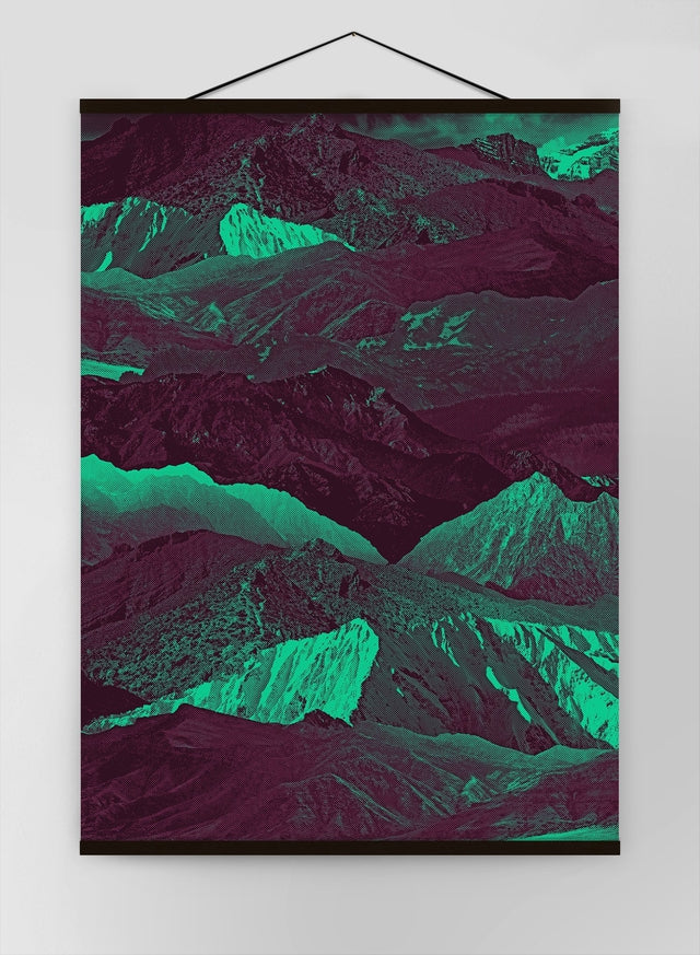Abstract Mountains 1 Canvas