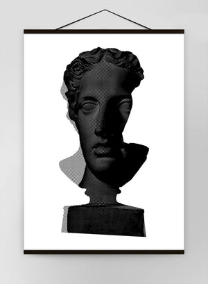 Bust 2 Black And White Canvas