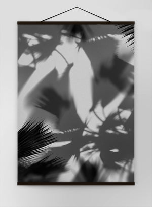 Palm Trees Shadow Canvas