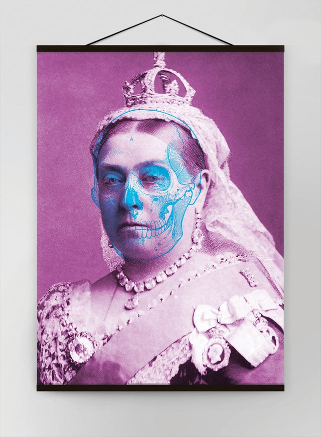Queen Victoria Skull Colour Canvas