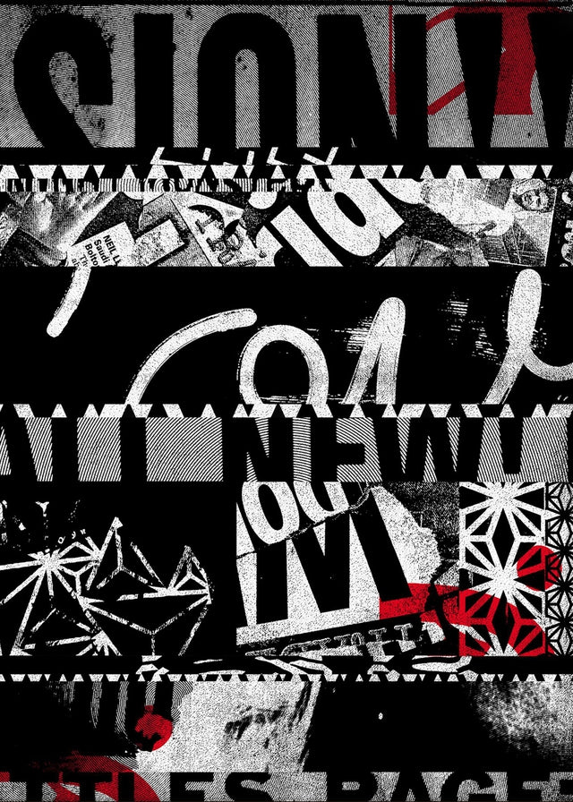 Shredded Abstract Typography 1 Canvas