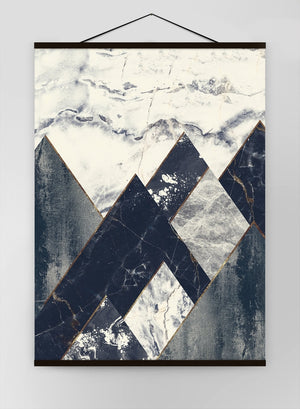 Marble Texture Hills Canvas