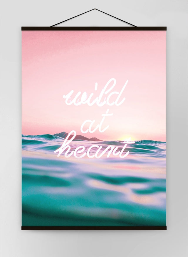 Wild At Heart Neon Canvas