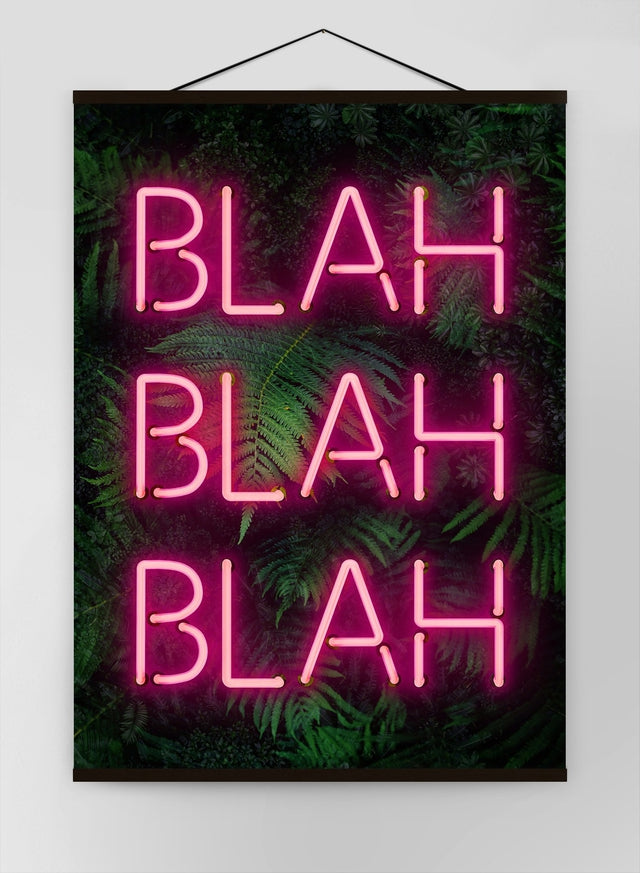 Blah Blah Blah Neon Canvas