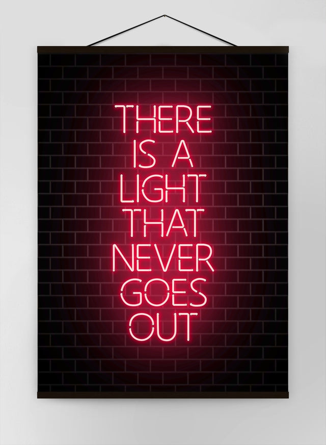 There Is A Light That Never Goes Out Neon Canvas