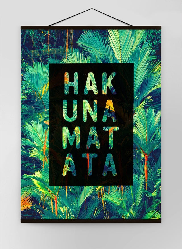 Hakuna Matata Lion King Quote Tropical Canvas