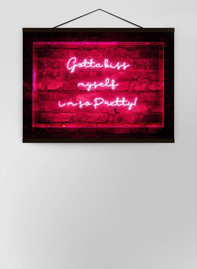 Kiss Myself Neon Lyrics Quote Canvas