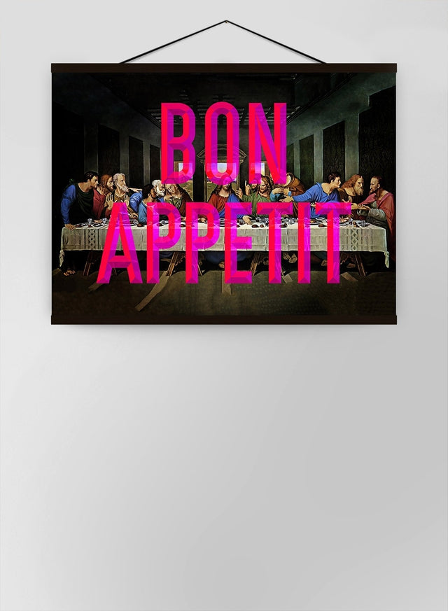 Bon Appetit Typography Canvas