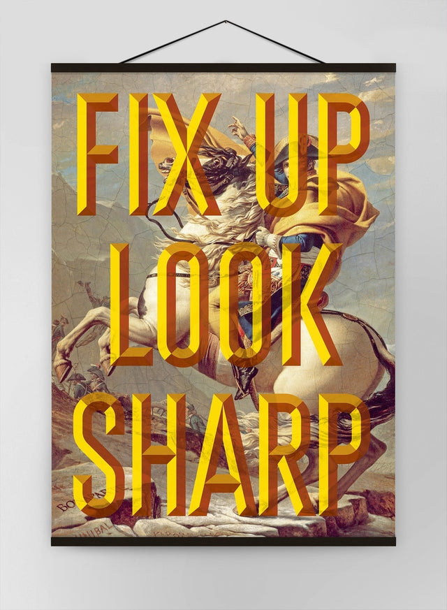 Fix Up Look Sharp Typography Canvas