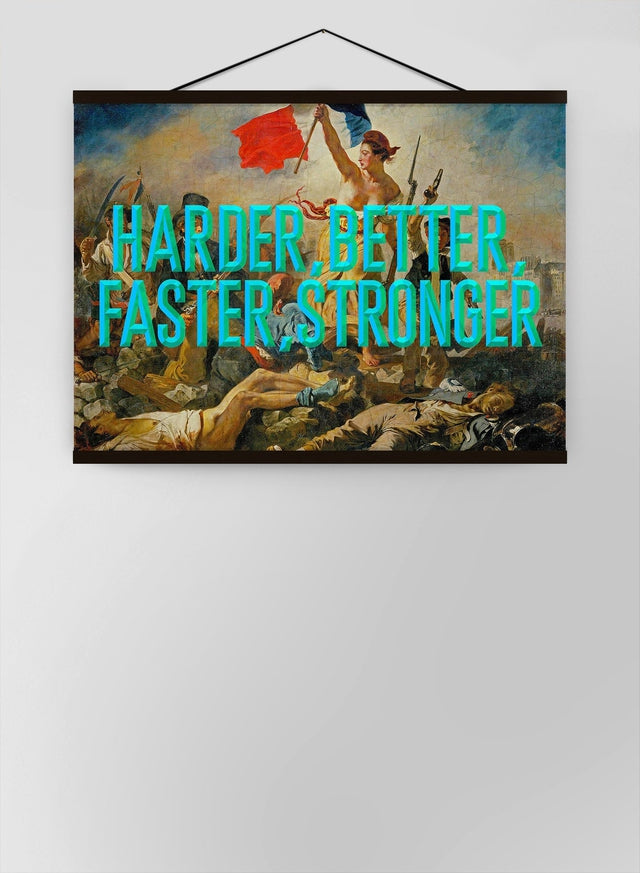 Harder Better Typography Canvas