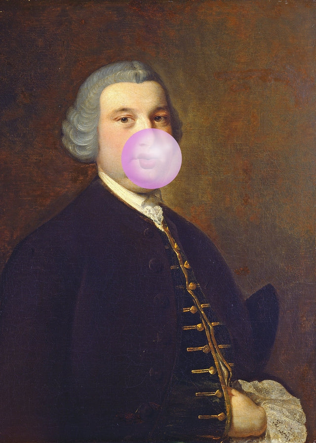 Bubblegum Gent Canvas Print