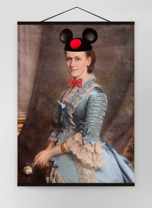 Lady With Minnie Ears Canvas Print