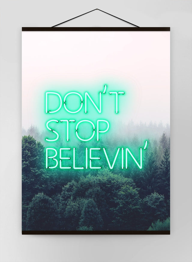 Dont Stop Believing Lyrics Canvas Print