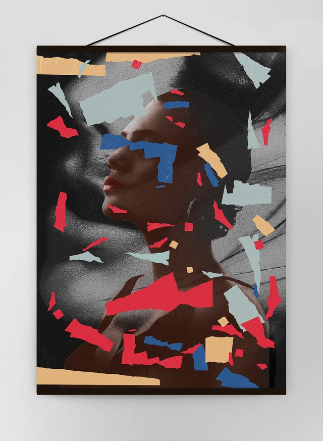 Paper Portrait 1 Canvas Print