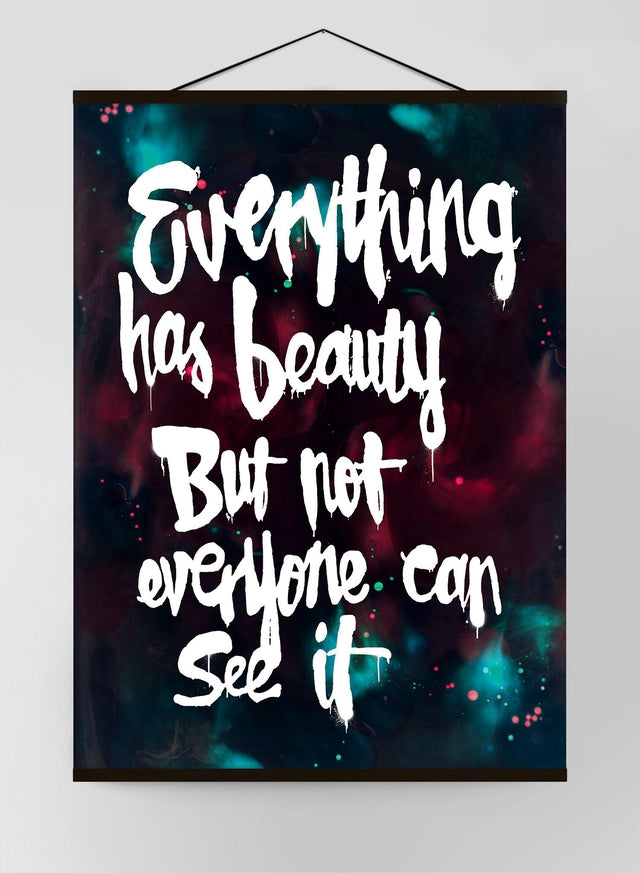 Everything Has Beauty Graffiti Paint Canvas Print