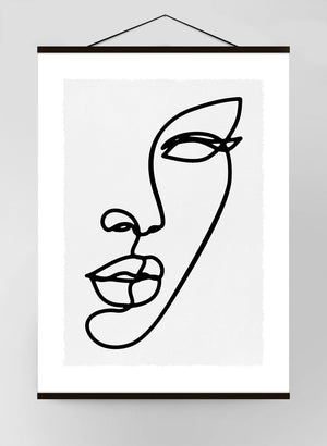 Face Study Lineart 1 Canvas Print