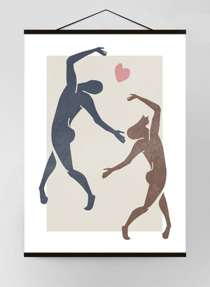 Dancers Watercolour Style Canvas Print