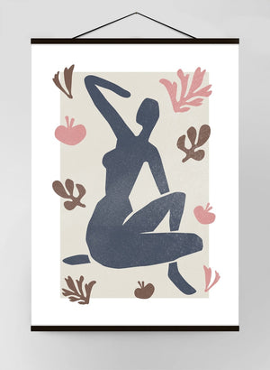 Female Sitting Watercolour Style Canvas Print