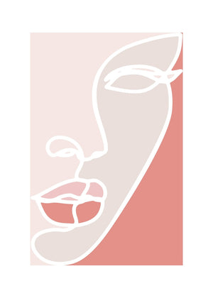 Face Study Colour Blocks Canvas Print