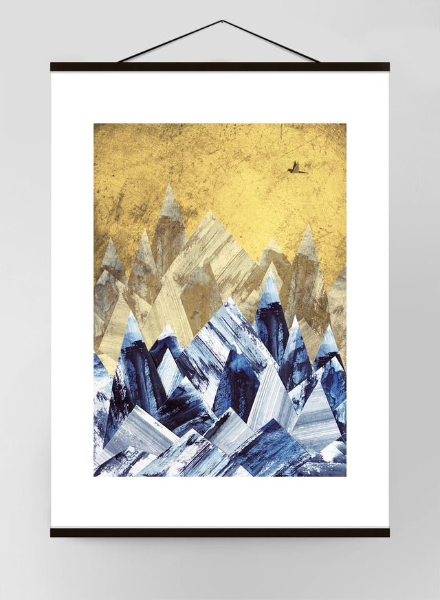 Cutout Gold Mountains Canvas
