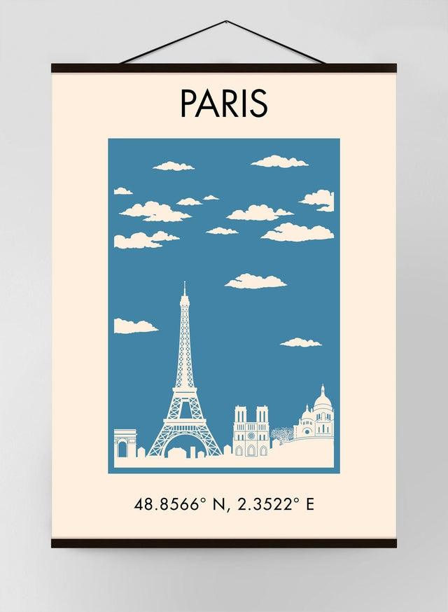 Paris Vintage Tourist Poster Canvas