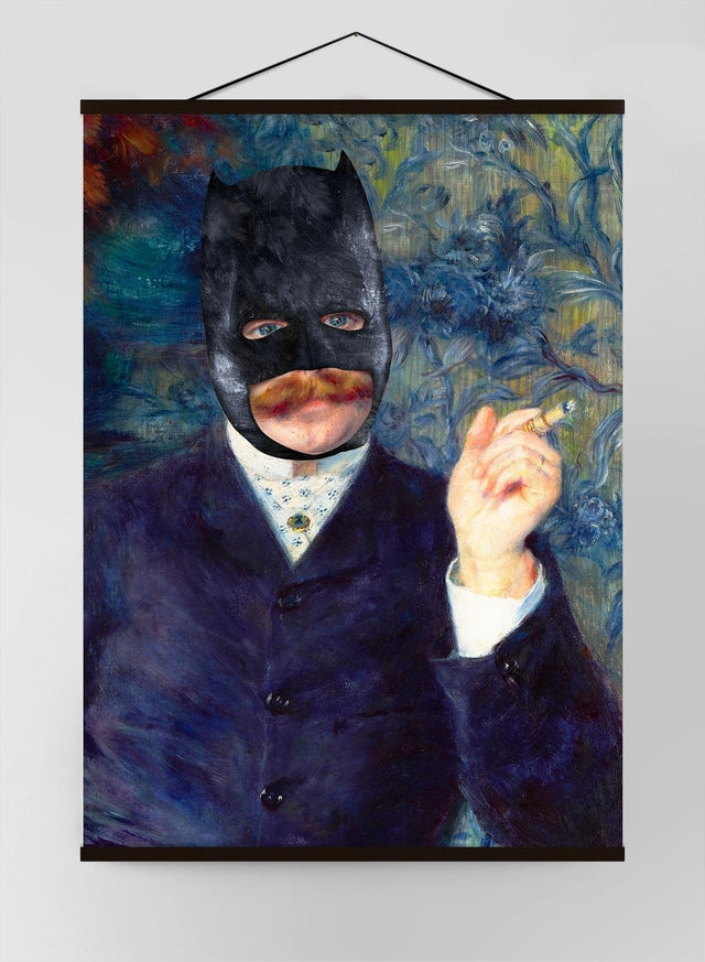 Batman Altered Art Painting Canvas