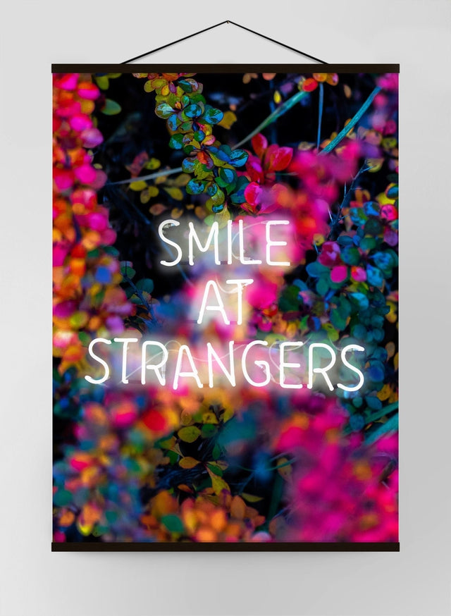 Smile At Strangers Neon Canvas