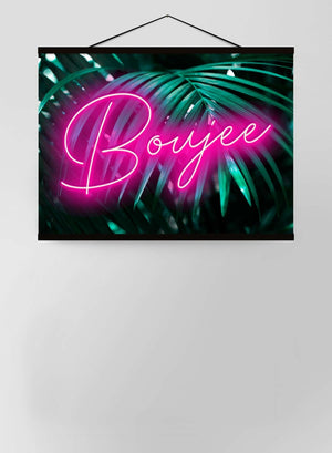 Boujee Neon Leaves Canvas