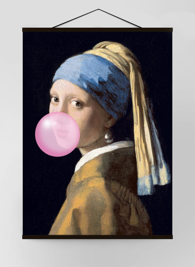 Girl Blowing Bubble Canvas