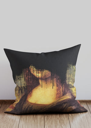 Black Drippy Mona Cushion