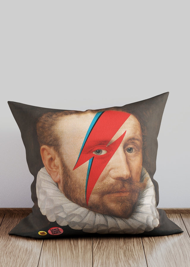 Rebel Bowie Altered Art Cushion