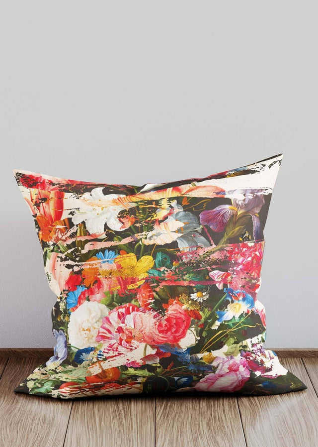 Torn Florals Pattern Cushion