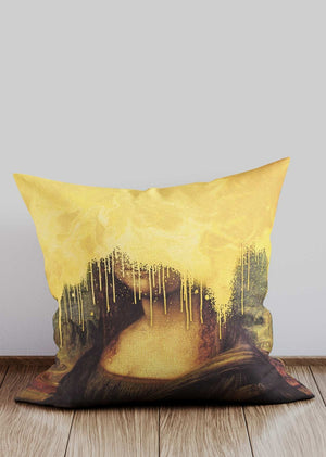 Gold Drippy Mona Cushion