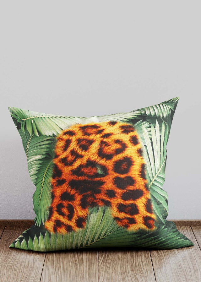 Custom Leopard Print Letter Cushion