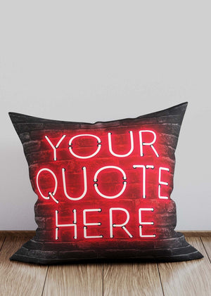 Custom Red Neon Brick Cushion