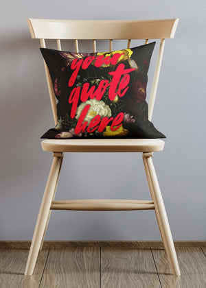 Custom Brush Paint Floral Cushion