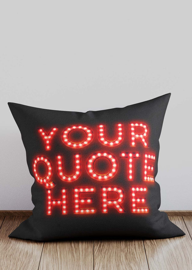 Custom Circus Style Red Bulb Letters Cushion
