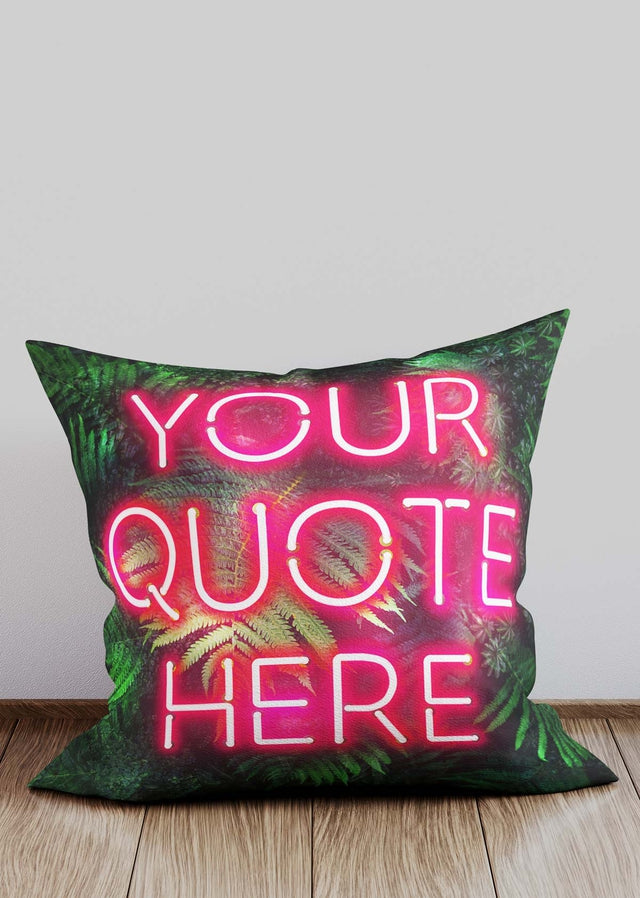 Custom Red Neon Leaves Cushion