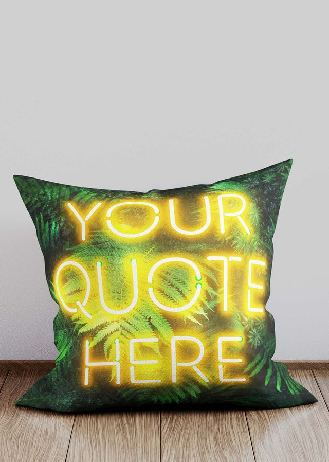 Custom Yellow Neon Leaves Cushion