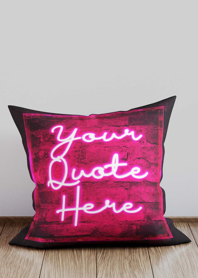 Custom Scribble Neon Pink Cushion