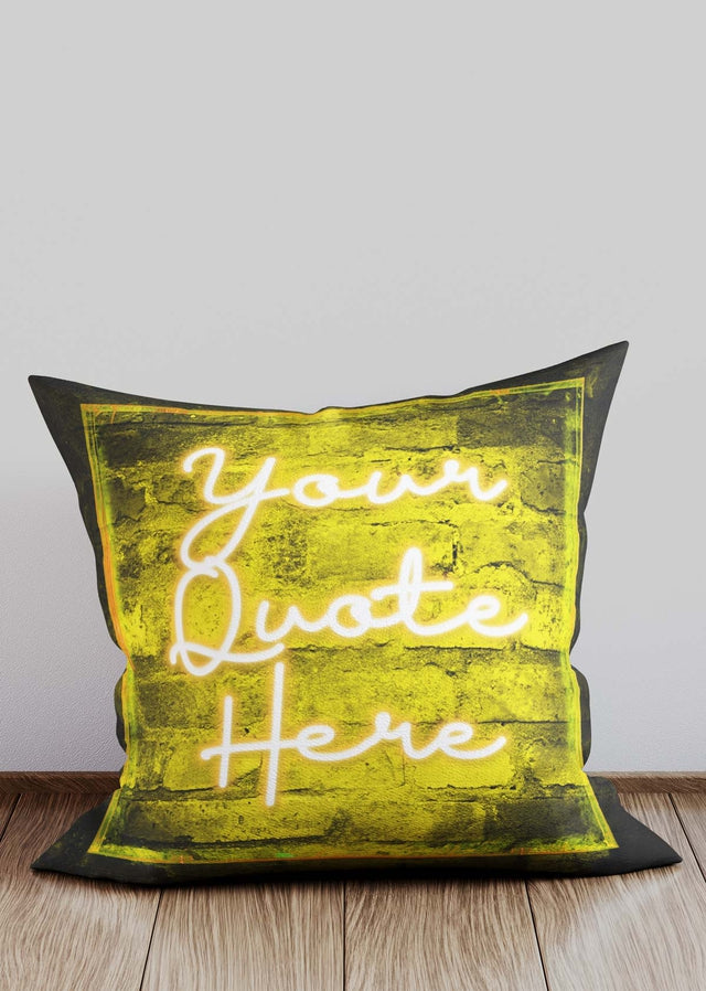 Custom Scribble Neon Yellow Cushion