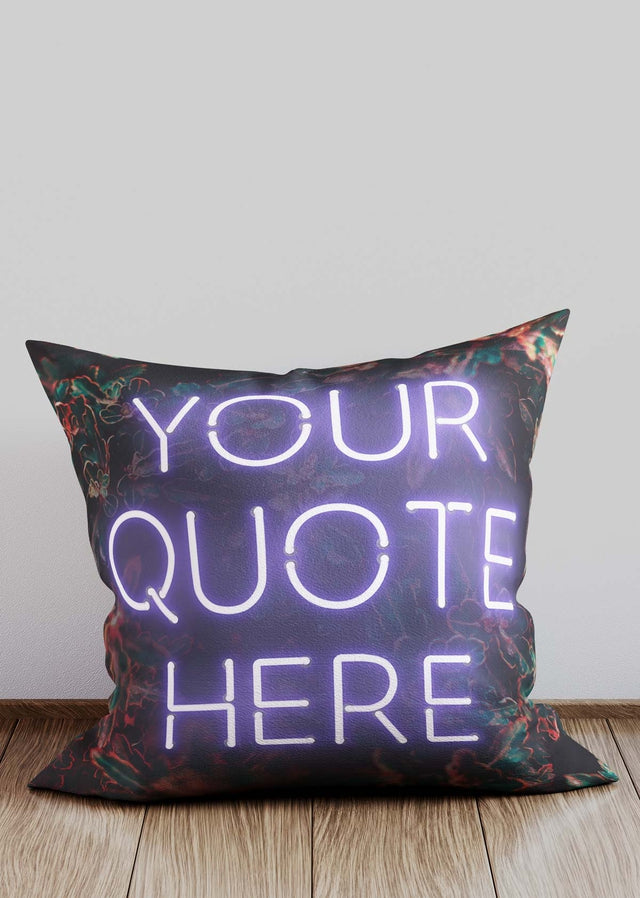 Custom White Neon Cushion