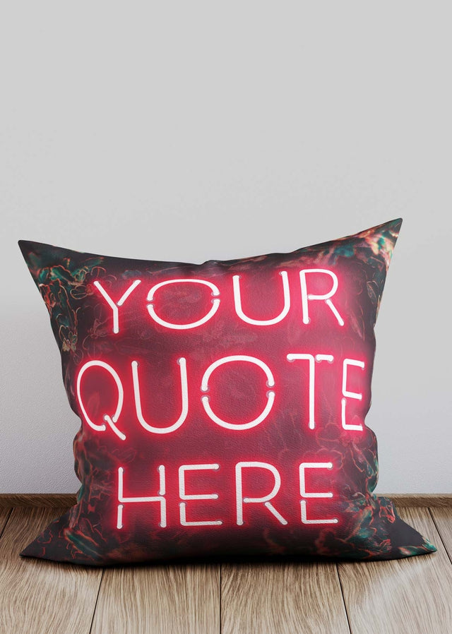 Custom Red Neon Cushion