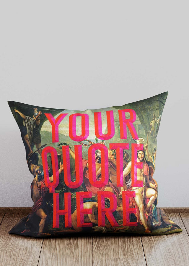 Custom Leonidas Red Cushion