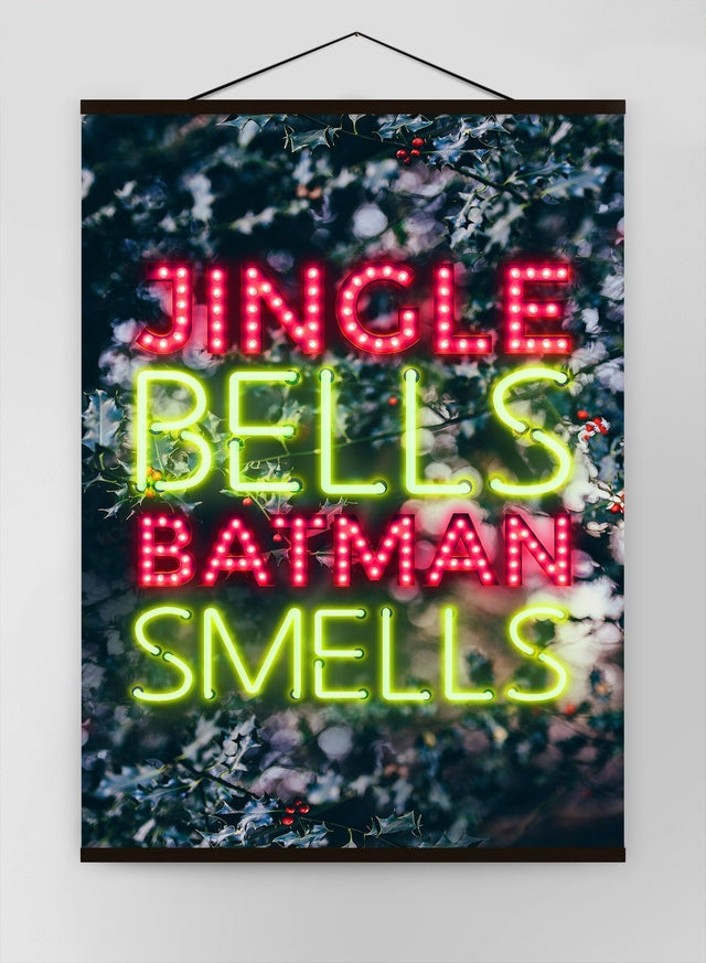 Batman Smells Neon Canvas