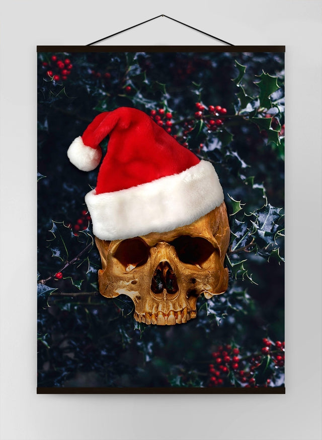 Santa Gold Skull Canvas