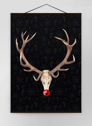 Rudolph Skull Black Canvas