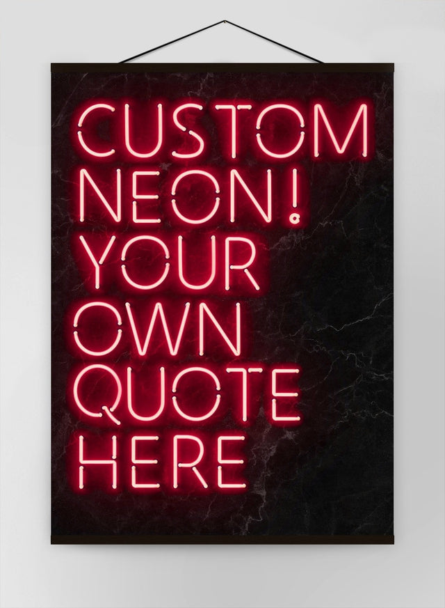 Custom Quote Neon Sign Red Canvas