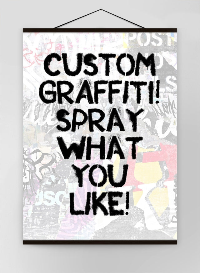 Custom Graffiti Stencil Canvas